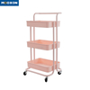 3 Tier Popular Bedroom Rolling Cart Organizer Shelf Movable In Hand Trolley