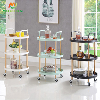 2/3 Tier Nordic Simplicity Shelf Storage Rolling Indoor Home Service Trolley Cart
