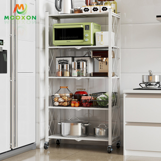 Multifunctional Retractable Folding Kitchen Furniture Shelves Organizer Storage Holder