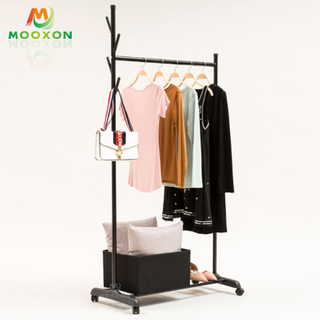 Commercial Buy Wholesale Garment Display Clothes Hanging Clothing Rack With Wheels