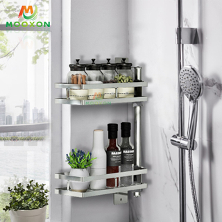 2/3/4/5 Tiers Stainless Steel Adjustable Spice Jars Organizer Rack Mounted Kitchen Rotating Display Stand