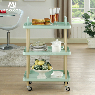 Metal Home Book Shelf Kitchen Vegetable Fruit Storage Rack Food Trolley Cart