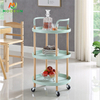 3 Tier Utility Storage Rack Hand Rolling Cart Kitchen Home Furniture Mobile Food Trolley