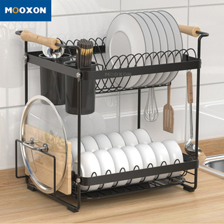 Tableware Kitchen Storage Shelf Holder Organizer Plate Drainer Stand Dish Rack