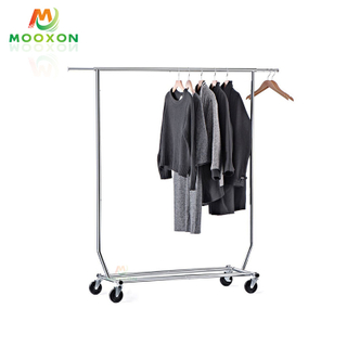 Unique Design Adjustable Bedroom Storage Shelf Clothing Garment Rack