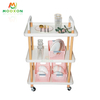 3 Tier Storage Shelf Service Hand Cart Office Bathroom Kitchen Furniture Rolling Carts And Trolleys