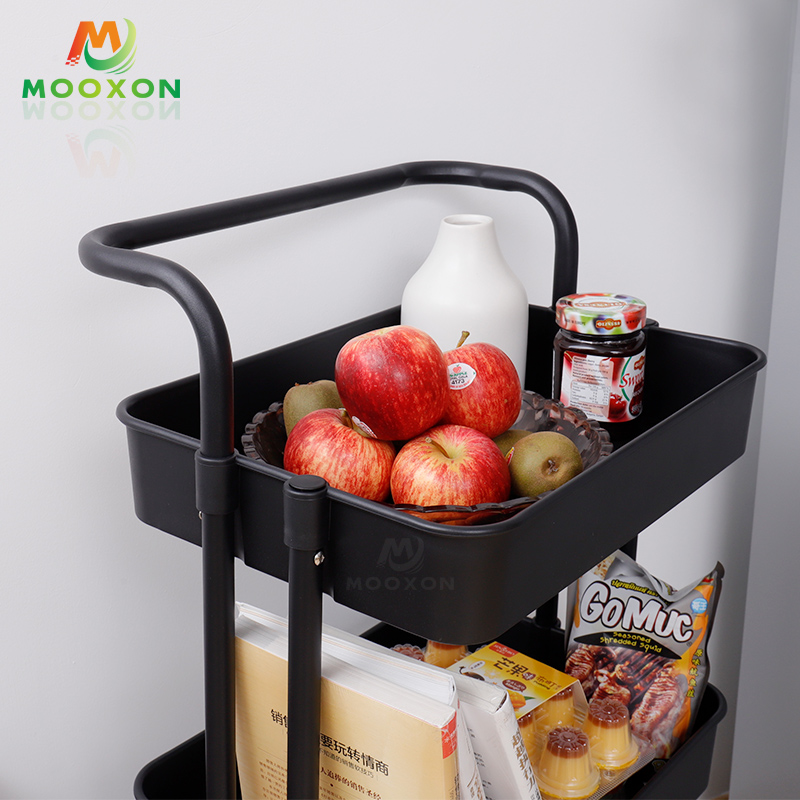 Rolling Trolley Cart Design Kitchen Furniture Storage Shelf With Handles