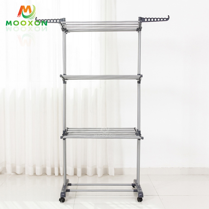 Hot Sale 3 Tiered Foldable Multipurpose Hanging Cloth Rack Drying Clothes Rack