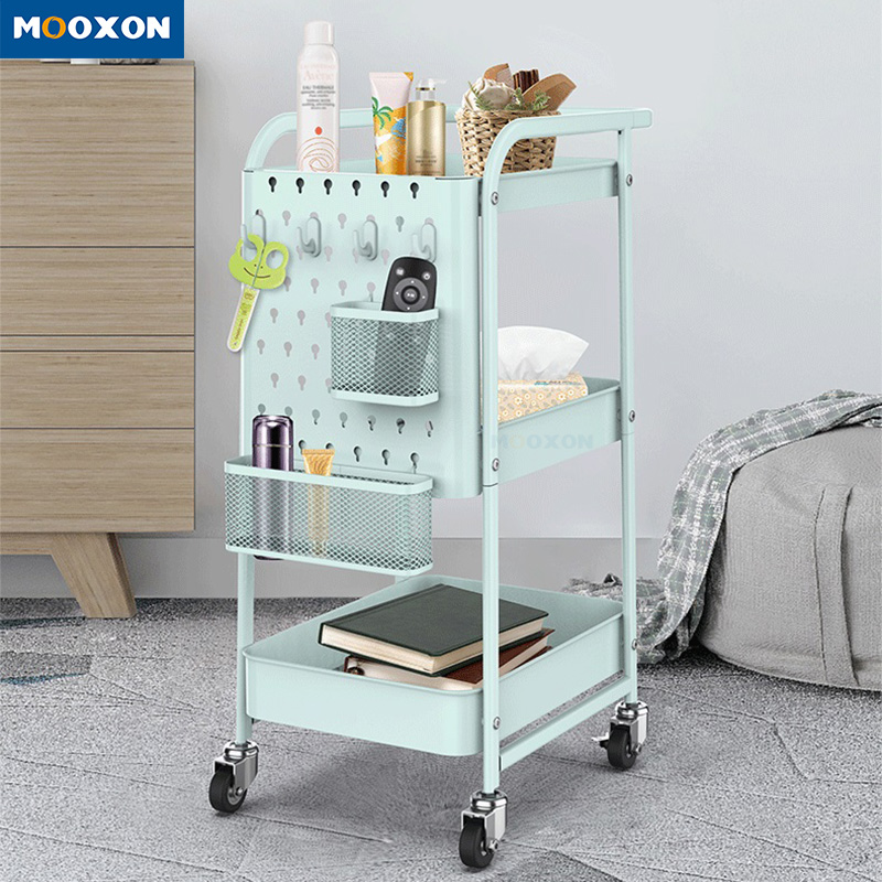 Convenient Plant Placement Storage Rack Utility Rolling Carts Standing Trolley Cart