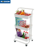 The Nordic Popular 3 Tier Rolling In Hand Cart Trolley Kitchen Storage Holder