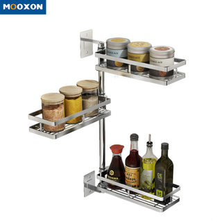 3 Tier Space Saver Stand Jar Bottle Shelf Holder Stainless Steel Spice Rack