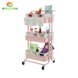 3 Tier Rolling Organizer Kitchen Furniture Storage Rack Home Trolley Hand Cart