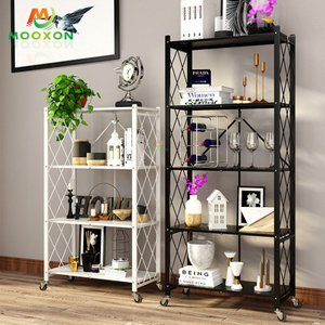 Hot Sale Foldable Metal Pantry Organizer Shelf Storage Rack Kitchen Furniture