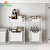 High Capacity Expandable Metal Cabinet Under The Kitchen Sink Storage