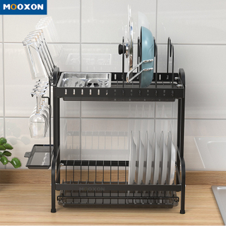 Kitchen Dryer Storage Drainer Metal Holder Plate Drying Drainer Shelf Dish Rack