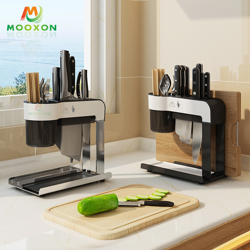Hot Selling Black Stainless Steel Space Saver Knife Storage Holders Universal Knife Block