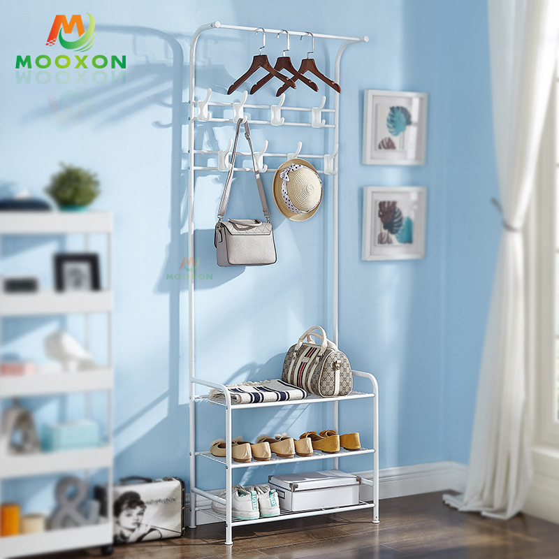 Easy To Assemble Multi-Purpose Clothes Drying Rack Entryway 3-IN-1 Coat Rack Organizer