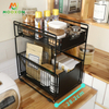 Space Saving Rack 3 Tier Stackable Under Sink Shelf Expandable Storage Holders