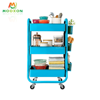 Modern Minimalist Design Easily Moved Household Organizer Rolling Storage Cart Trolleys