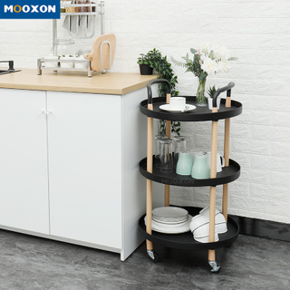 Simplicity Bathroom Shelf Rolling Storage Indoor Home Service Trolley Cart