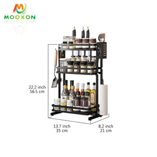 Kitchen Installation-Free Folded Multi-Layer Spice Rack Condiment Organizer