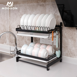 Display Stand Kitchen 2/3 Tiers Storage And Holders Drying Rack Dish Drainer