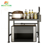 Retractable Metal Organizer Oven Stand Kitchen Accessories Microwave Shelf