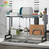 Space Saver Kitchen Storage Shelf Stainless Steel Plate Drainer Holder Over Sink Stand Dish Drying Rack