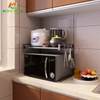 Shelves Counter Cabinet Shelf Kitchen 2 Tiers Adjustable Microwave Oven Rack And Dish Storage