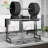 2 Tier 86cm Kitchen Storage Over Sink Shelf Stand Plate Holder Dish Drainer Rack