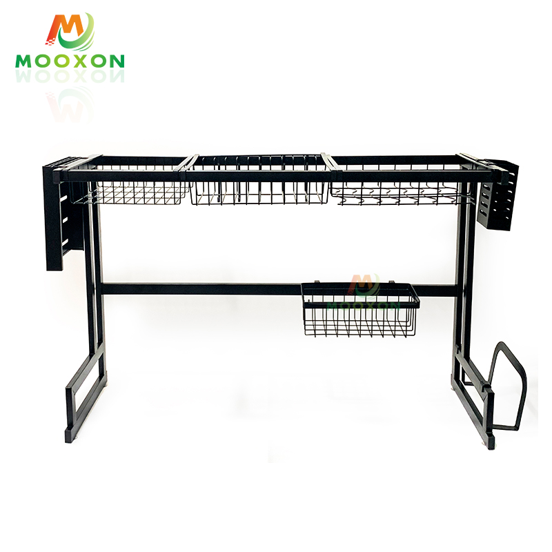 Manufacturer Supply Version 66cm Storage Shelf Stainless Steel Kitchen Over Sink Dish Drying Rack