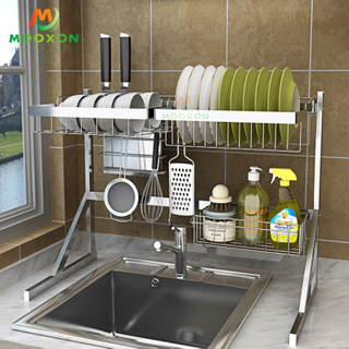 Over Sink Black Utensil Storage Holder Drying Kitchen Dish Rack Stainless Steel