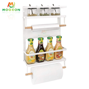 Foldable Refrigerator Side Storage Magnetic Spice Rack