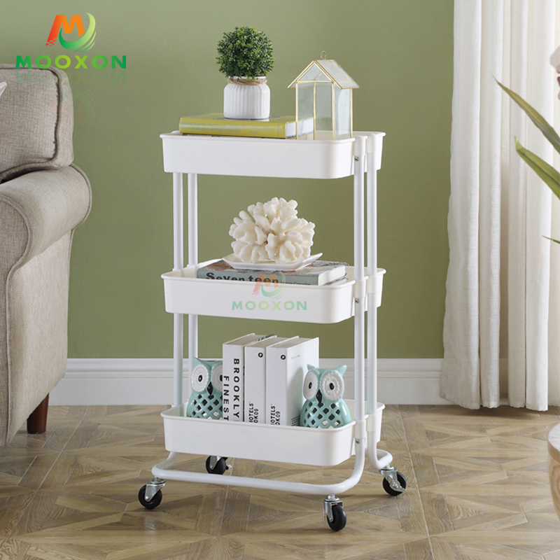 Commercial Kitchen Furniture 3 Tier storage holderIn Hand Cart Trolley