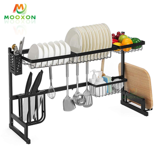 Adjustable Plate And Bowl Drying Dish Drainer Rack Stainless Steel